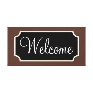 Canvas do sinal de boas-vindas de Brown Impressão Em Tela Canvas