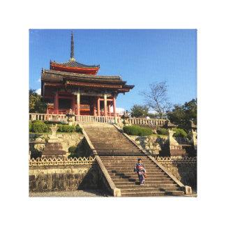 Canvas do templo de Kyoto Japão