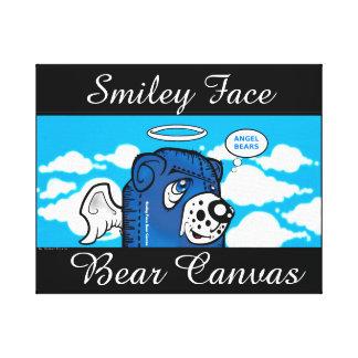Canvas do urso do smiley face impressão em tela
