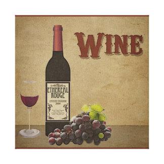 Canvas do vinho impressão em tela