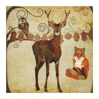 Canvas dos animais da floresta impressão em tela