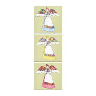 Canvas dos anjos 3-Panel do país Impressão De Canvas Envolvidas