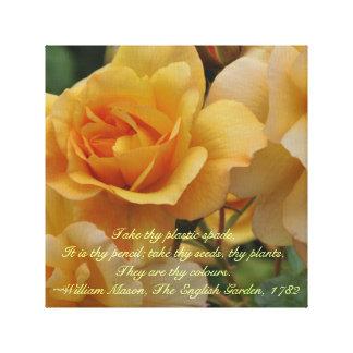 Canvas douradas do dia das mães dos rosas do por d impressão em canvas