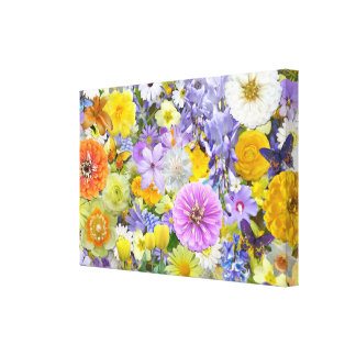 Canvas - envolvidas - flores e borboletas