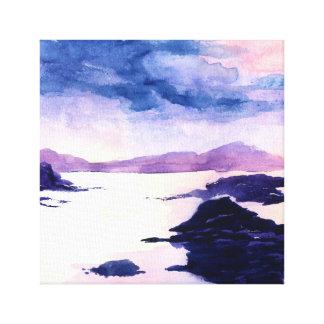Canvas escocesas do Watercolour de Loch Lomond