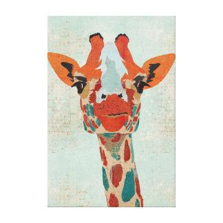 Canvas espreitando ambarinas do girafa impressão em tela