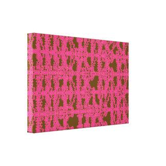 Canvas estáticas cor-de-rosa da grade impressão de canvas esticadas
