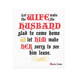 Canvas esticadas citações do marido & da esposa