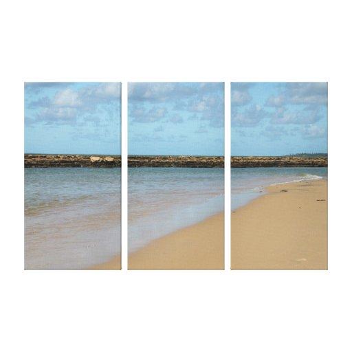Canvas esticadas da praia paraíso tropical impressão de canvas envolvidas