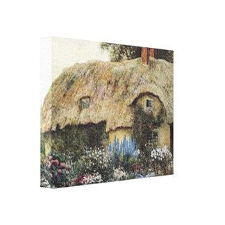 Canvas esticadas pequenas da casa de campo do país impressão em tela canvas
