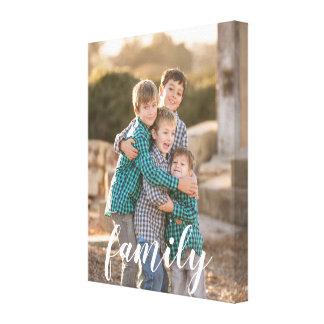 Canvas feitas sob encomenda da foto da família