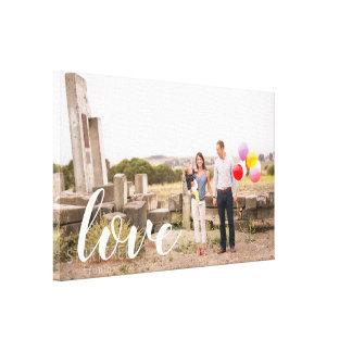 Canvas feitas sob encomenda da foto do amor