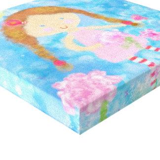 Canvas feitas sob encomenda, menina bonito