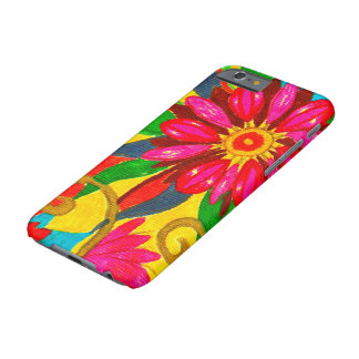 Canvas florais capa barely there para iPhone 6