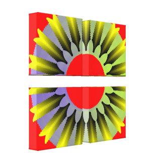 Canvas florais contemporâneas impressão em tela