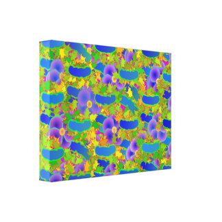 Canvas florais tecidas impressão de canvas esticadas