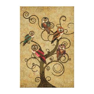 Canvas gastos da árvore da coruja impressão em tela