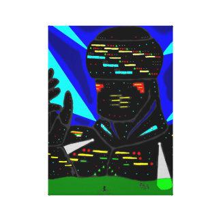 Canvas gigantes do robô impressão de canvas esticada