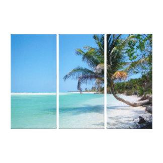 Canvas havaianas do painel do paraíso três da impressão em tela