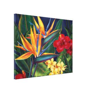 Canvas havaianas do paraíso tropical grandes impressão de canvas envolvida