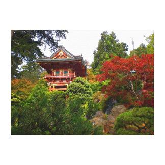Canvas japonesas da porta #3 do templo do jardim