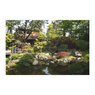 Canvas japonesas do jardim de chá #6 de San