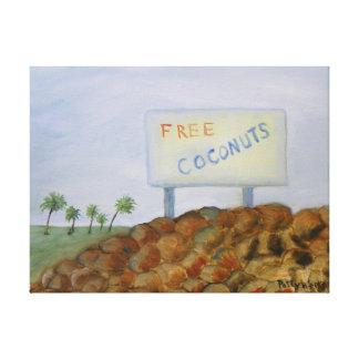 Canvas LIVRES dos COCOS Impressão De Canvas Envolvidas