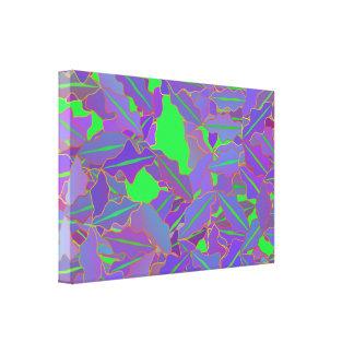 Canvas mergulhadas da folha impressão de canvas esticadas