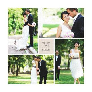 Canvas modernas da colagem da foto do casamento do
