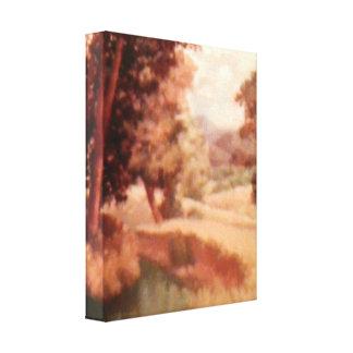 Canvas pequenas do campo quieto impressão em tela
