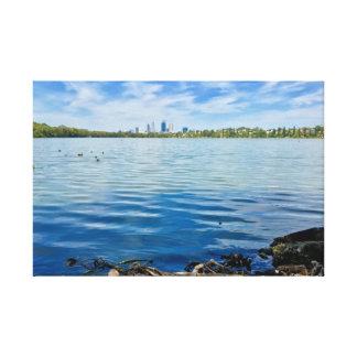 """Canvas """"Perth através das águas """""""