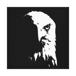 Canvas pretas & brancas da águia americana