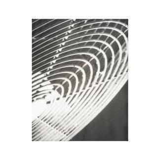 Canvas preto e branco industriais rústicas do fã