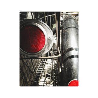 Canvas preto e branco vermelhas da bicicleta #1 do