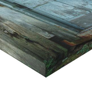 Canvas primitivas da porta de celeiro do país impressão em tela