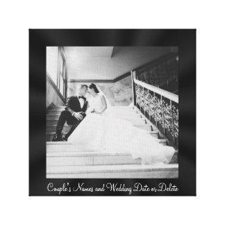 Canvas quadradas da foto do casamento, quadro