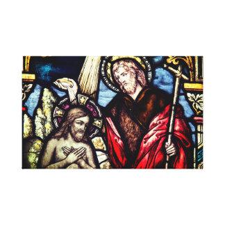 Canvas religiosas do sacramento do baptismo