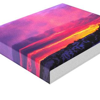 Canvas roxas do por do sol
