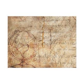 Canvas rústicas de Brown do globo antigo do mundo