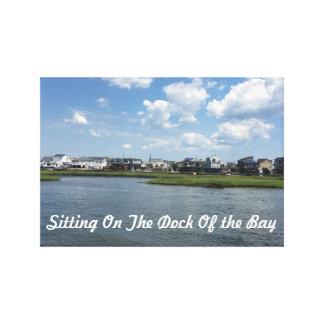 Canvas - sentando-se na doca da baía