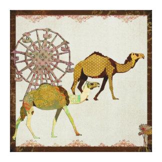 Canvas sonhadoras do carnaval dos camelos impressão em tela