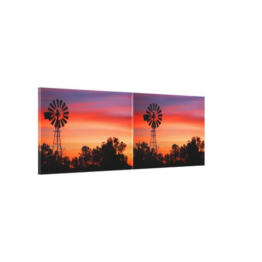 Canvas surpreendente coloridas de 2 moinhos de ven impressão de canvas esticada