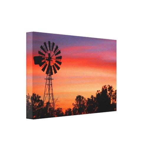 Canvas surpreendente coloridas do moinho de vento  impressão de canvas esticadas
