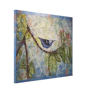 Canvas tropicais azuis do impressão da aguarela do