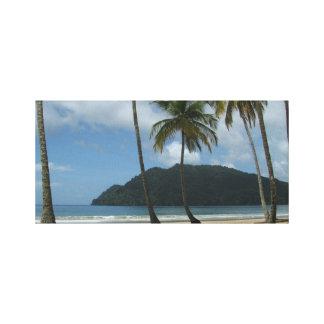 Canvas tropicais do escape impressão em tela