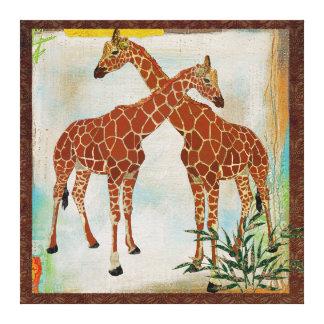 Canvas tropicais dos girafas impressão em tela