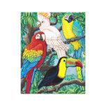 Canvas tropicais dos pássaros impressão de canvas envolvida