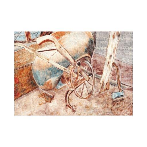 Canvas velhas do arado impressão de canvas esticadas