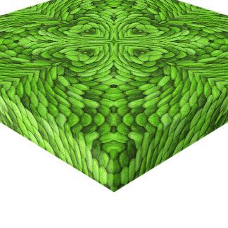 Canvas verdes indo do caleidoscópio do vintage