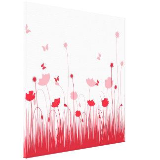 Canvas vermelhas das papoilas